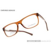 EMPORIO ARMANI 光學眼鏡 EA3001F 5069 時尚潮流簡約款方框平光鏡框 # 金橘眼鏡