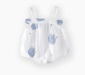 寶寶背帶連身衣服夏