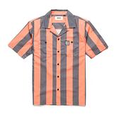 Deus Ex Machina Vertigo Stripe Shirt 短袖襯衫-(橘/灰)