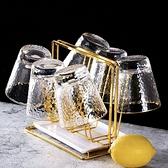 玻璃杯杯架茶杯瀝水托盤杯子架子收納置物架水杯掛架創意家用客廳 青木鋪子「快速出貨」
