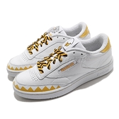 【海外限定】Reebok 休閒鞋 Club C 85 白 黃 蛋黃哥 聯名款 男鞋 女鞋 小白鞋 【ACS】 EH3050