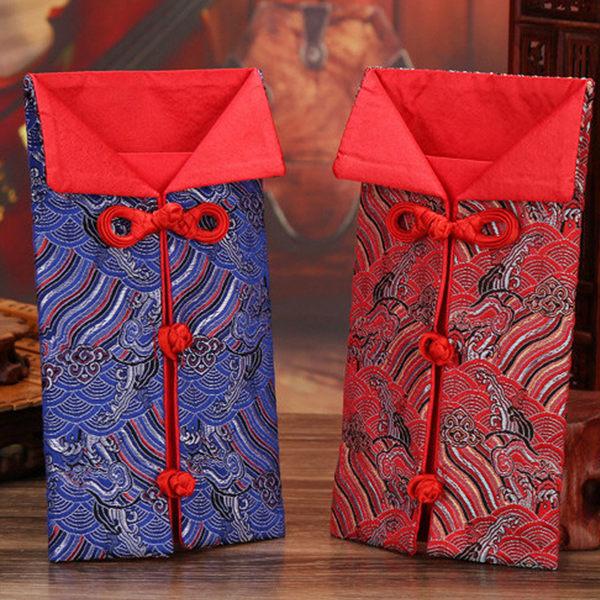 新年 中國結 春節 2017 開運紅包袋 壓歲錢 創意紅包 針織紅包袋 錦緞紅包 中國風 布紅包 錭緞 鍛面
