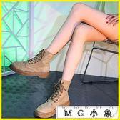 中筒靴 馬丁靴子韓版百搭黑色機車短筒靴鞋