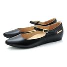 全真皮尖頭繫帶內增高楔型鞋-黑色‧karine(MIT台灣製)