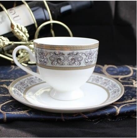 歐式骨瓷咖啡杯套裝 創意陶瓷咖啡杯碟 英式紅茶杯 歐式咖啡杯(相見歡杯碟勺)