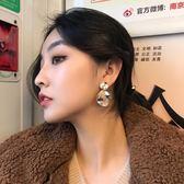 新春新品▶復古不規則圓片圓形耳環歐美女氣質個性金屬夸張長款耳釘吊墜耳墜