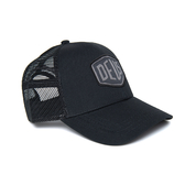 Deus Ex Machina Woven Shield Trucker棒球帽 - 黑