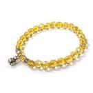 富貴葫蘆黃水晶角度珠彈性手環