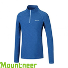 【Mountneer 山林 男款 遠紅雲彩保暖上衣《天藍》】22P09/吸濕排汗/長袖衣/遠紅外線