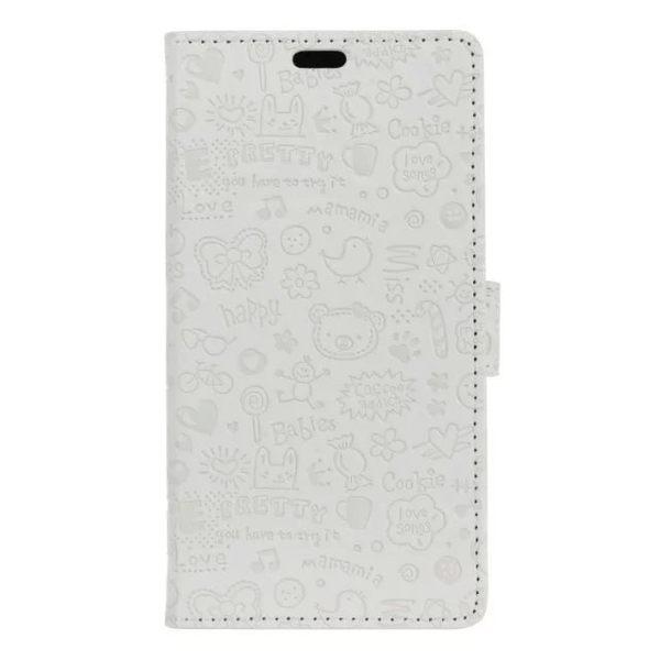 蘋果 IPhone7 4.7吋 Plus 5.5吋 小魔女壓花 皮套 手機皮套 手機殼 保護殼 壓紋 插畫 卡通 內軟殼