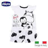 chicco-小乳牛斑點荷葉袖套裝