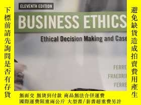 全新書博民逛書店BusinessEthics Ethical Decision Making CasesY19139 O C