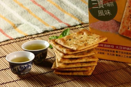 正哲礦鹽蘇打餅 - 三寶海苔風味365g/袋 (每袋6小包入)