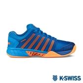 【K-SWISS】Hypercourt Express超透氣輕量網球鞋-男-藍/霓橘(03377-427)