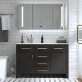 智能北歐浴室櫃組合落地式現代洗臉洗手面盆池洗漱台盆衛生間   汪喵百貨