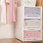 衣服箱子儲物箱塑料收納箱抽屜式收納柜透明衣柜收納盒衣物整理箱yi【販衣小築】