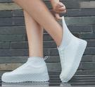 雨鞋套防水防滑雨天加厚耐磨底硅膠腳套加厚雨鞋女男學生雨靴鞋套 【快速出貨】