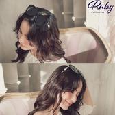 墨鏡 珍珠粗框漸層鏡面墨鏡-Ruby s 露比午茶