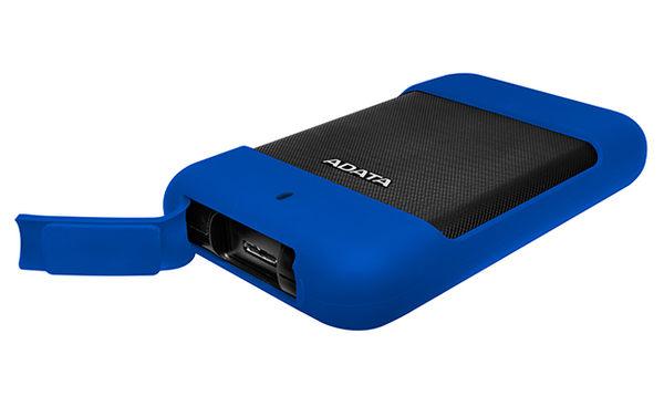 ADATA威剛 Durable HD700 2TB(黑/藍) 2.5吋軍規防水防震行動硬碟