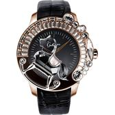 Galtiscopio迦堤 童真木馬系列 創作夢幻手錶-玫塊金框/50mm LG1RGS001BLS