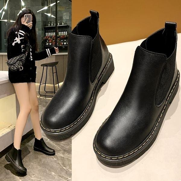 【白鳥麗子】冬季必敗 MIT顯瘦切爾西短靴-現貨供應