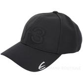 Y-3 LOGO刺繡設計黑色彈性纖維棒球帽 1920172-01
