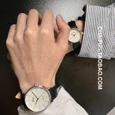 情侶對錶  文藝複古情侶款石英機芯手錶皮帶小數字表盤