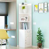 北歐客廳牆角櫃簡約三角置物架多功能轉角櫃子儲物櫃拐角邊角櫃