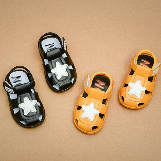 夏季1-3歲男女寶寶涼鞋兒童叫叫涼鞋0-1歲嬰兒軟底學步鞋沙灘鞋
