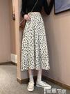 半身裙 碎花裙春秋夏季女裝垂感半身裙2021新款中長款裙子雪紡高腰a字裙 【99免運】