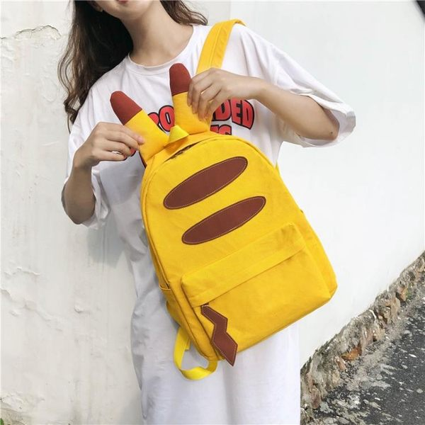 書包女韓高中兒童雙肩包小學生著感少女校園萌通皮卡丘背包