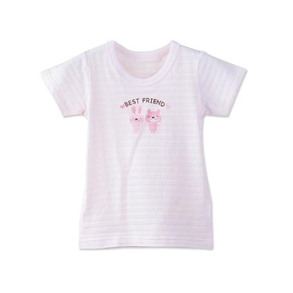 3件入-嬰兒短袖竹節棉上衣 內睡衣-JoyBaby