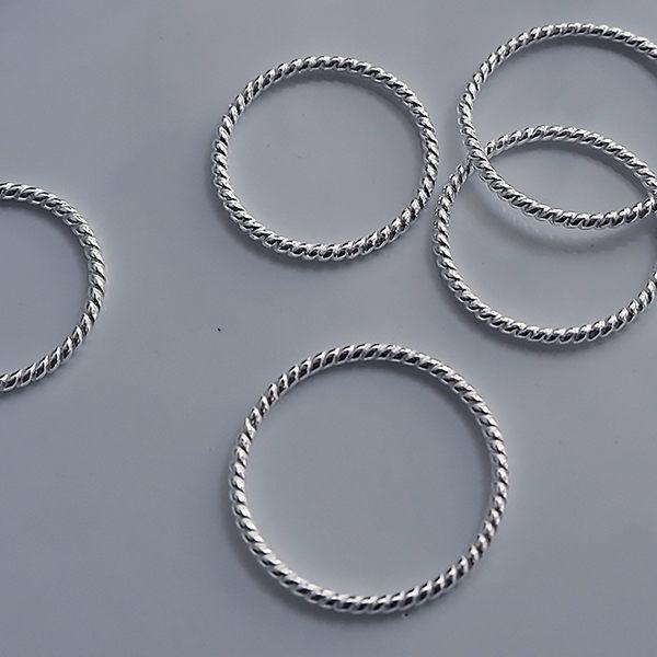 簡約螺紋線戒戒指 極簡925純銀 COS 亮銀色 新增大尺碼