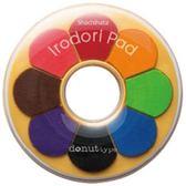 日本Shachihata HPR-8DA Irodoripaddo甜甜圈形8色印台