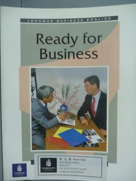 【書寶二手書T5/語言學習_QNZ】Ready for Business_Andrew Vaughan, Neil He