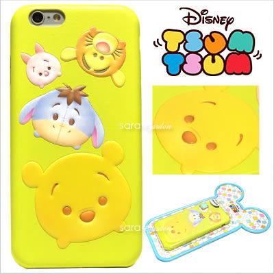 免運 官方授權 迪士尼 Tsum Tsum 疊疊樂 立體 皮革 Q版 iPhone 6 6S Plus 手機殼 保護套 皮套 小熊維尼