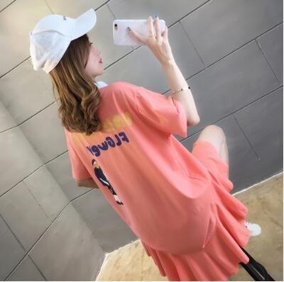 正韓百搭打底衫M-XXL韓版寬鬆短袖t恤NE4167773胖胖美依