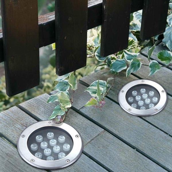 地埋燈 led戶外射燈防水地埋燈嵌入式埋地燈庭院景觀燈外墻投射燈七彩 晶彩生活