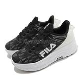 Fila 休閒鞋 J321V 黑 白 女鞋 厚底 增高鞋 透氣鞋面 運動鞋 【ACS】 5J321V011
