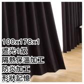 隔熱防炎窗簾 NOBLE3 BK 100×178×1 NITORI宜得利家居