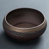粗陶茶洗大號筆洗大陶瓷水盂茶碗茶渣缸筆洗禪意日式