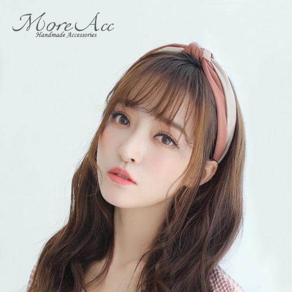髮帶 More Acc網紅髮箍韓國簡約寬邊壓髮卡髮帶頭箍女超仙甜美成人髮飾 曼慕衣櫃