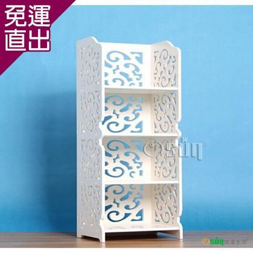 Osun DIY木塑板白色雕花四層8030【免運直出】