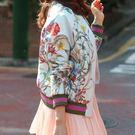 飛行夾克 韓版刺繡花朵棒球風衣紐約周