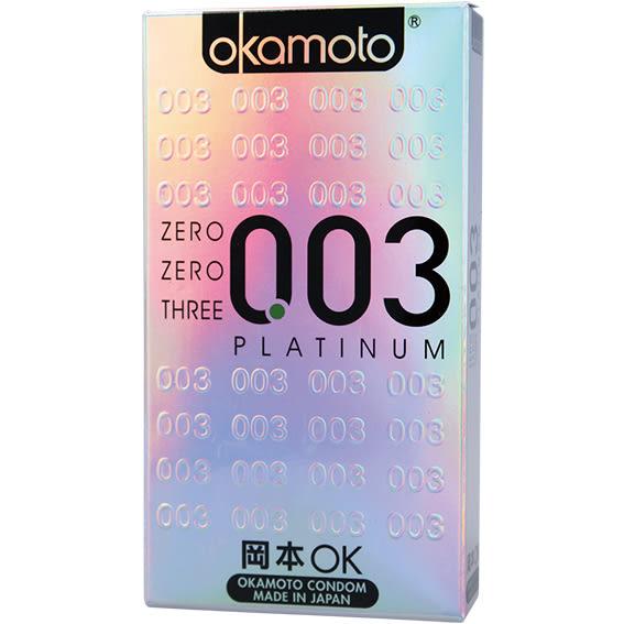 【愛愛雲端】岡本 okamoto 003極薄 衛生套 保險套 6片 (銀)