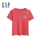 Gap男幼棉質舒適圓領短袖T恤545143-橡皮紅