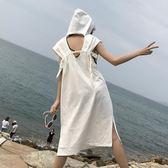 夏裝個性連帽露背無袖洋裝【奇趣家具】