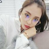 現貨-韓國ulzzang文藝復古眼鏡框百搭圓形眼鏡框潮男女款大框平光鏡近視眼鏡女學生復古眼鏡金屬