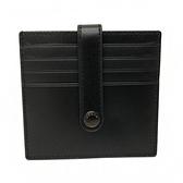 【COACH】滑面牛皮信用卡/證件/名片夾(黑)