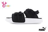 PUMA LEADCAT YLM 19 PS 中童 涼鞋 可拆式後帶 一鞋兩穿 涼拖鞋 J9537#黑白◆OSOME奧森鞋業